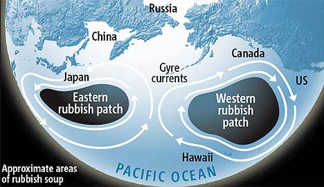 Eastern & Western Garbage Patches in the Pacific